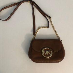 Michael Kors Tan Fulton Crossbody Handbag